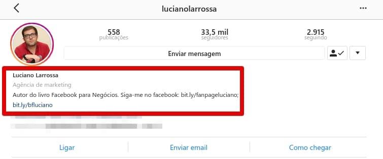 Seguidores no Instagram - Perfil